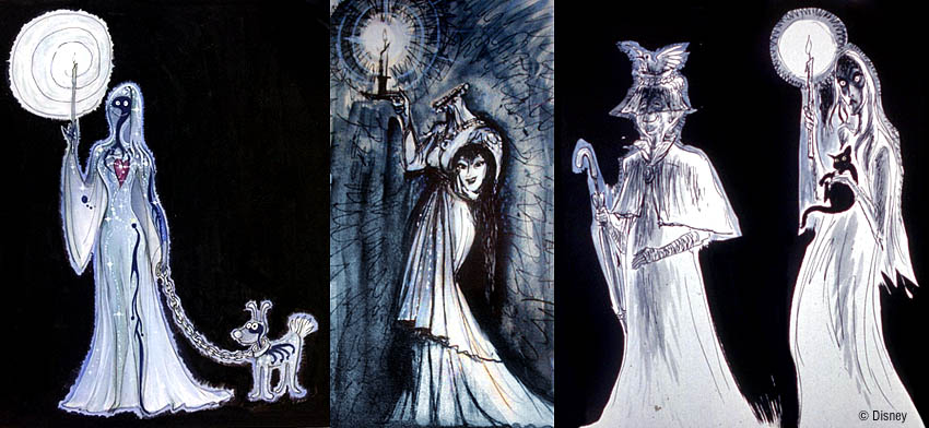 Marc Davis' concepts for the Bride.