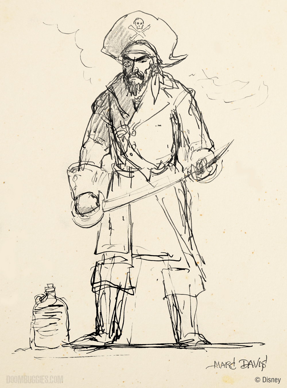 Marc Davis' pirate ghost concept.